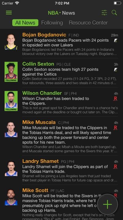 Playerline Fantasy Sports News screenshot-8
