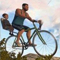爸爸送儿子上学-死亡独轮车