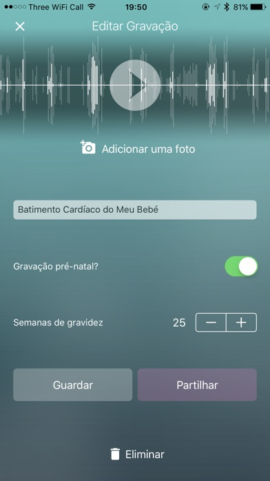 Screenshot for Hear My Baby  Monitor Cardiaco in Brazil App Store