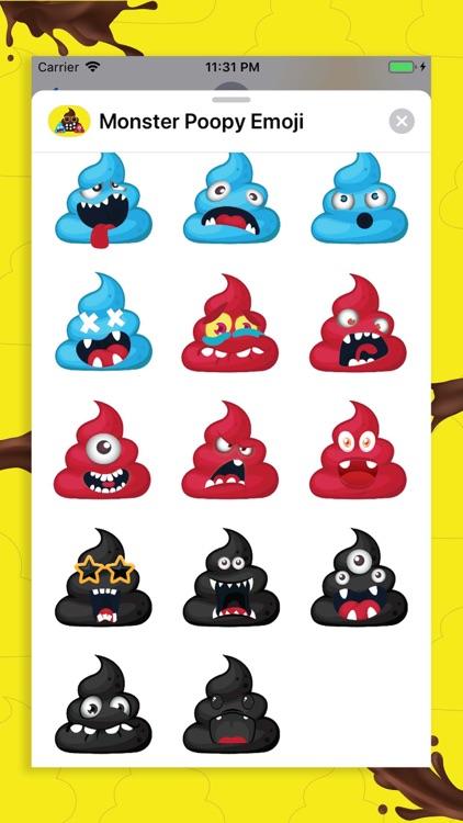 Monster Poopy Emoji screenshot-5