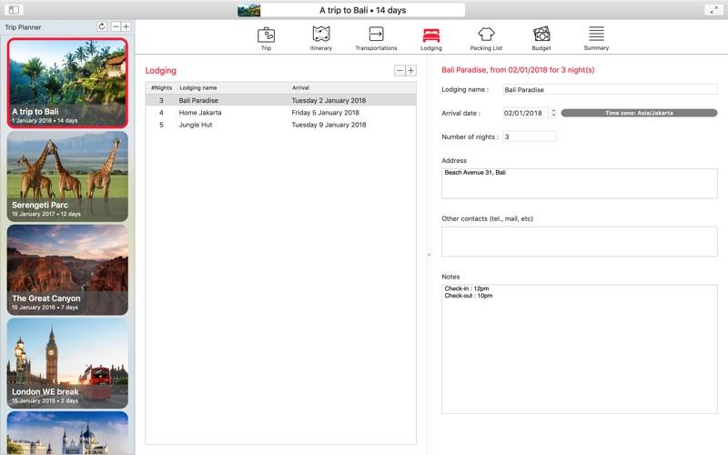 My Travels Planner скриншот программы 4