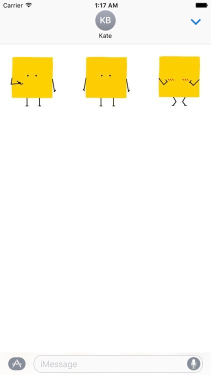 Animated Square Emoji Stickers