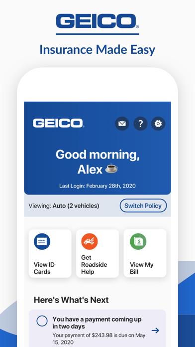Geico Mobile review screenshots