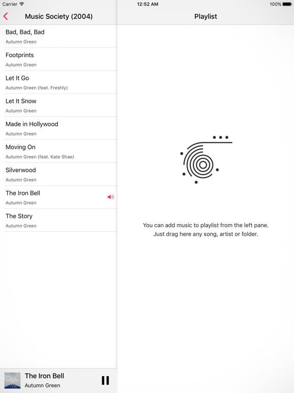 Glazba – Music Player Screenshots