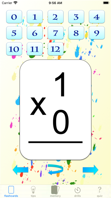 multiplication drills: X screenshot 1
