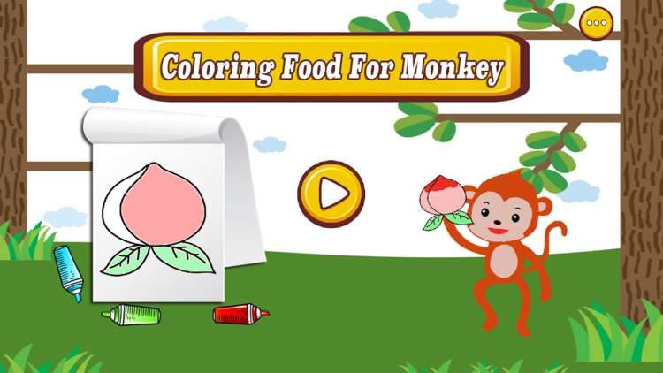 Coloring Food For Monkey