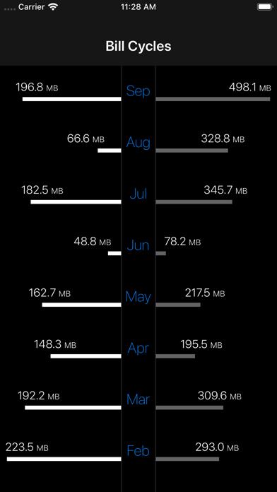 DataMan - Data Usage Widget Screenshots
