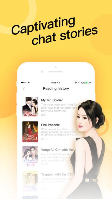 Teller-Chat Stories MoboReader Screenshot