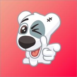 Dog Spotty Sticker