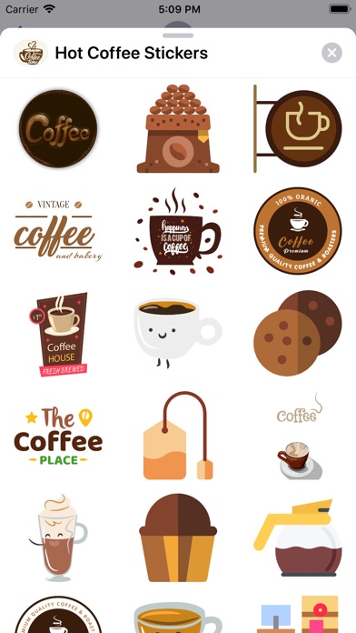 Hot Coffee Stickers review screenshots
