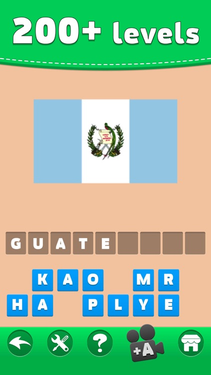 Flags Quiz - Word Puzzle Game
