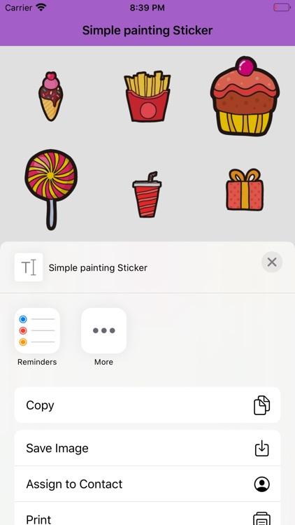 Simple painting Sticker screenshot-3