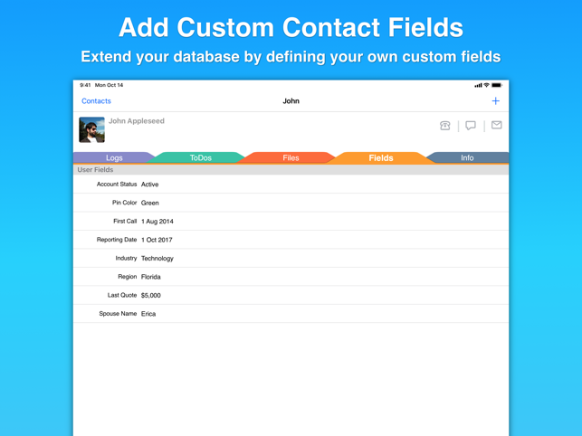 ‎Contacts Journal CRM Screenshot