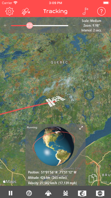Screenshot #1 pour ISS Real-Time Tracker 3D