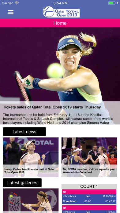 Qatar Total Open screenshot one