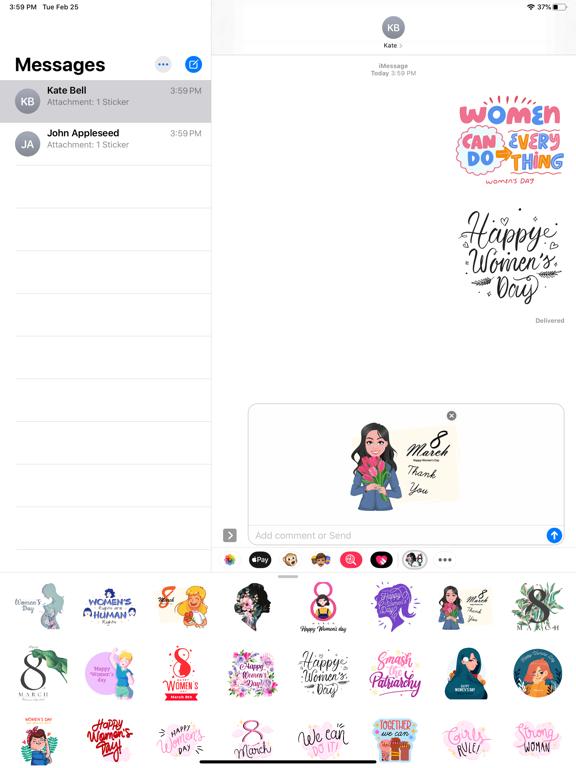 Strong Women's Day Stickers screenshot 5