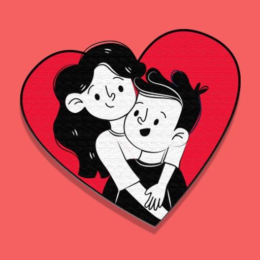 Love Hugs Stickers