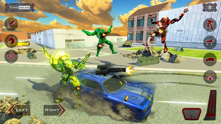 Police Robot Car - Horse games screenshot-3