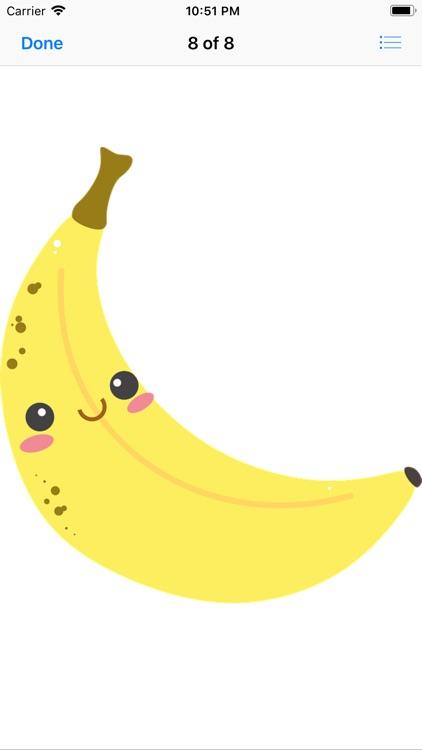 Happy Fruit Stickers screenshot-8