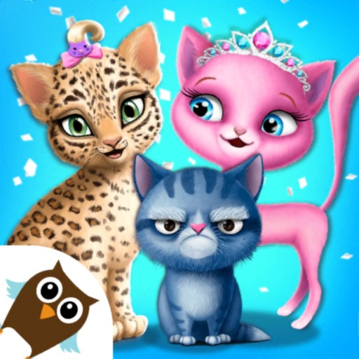 Cat Hair Salon Birthday Party icon