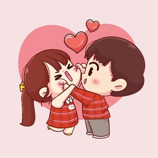 Dear Sweet Couple Stickers