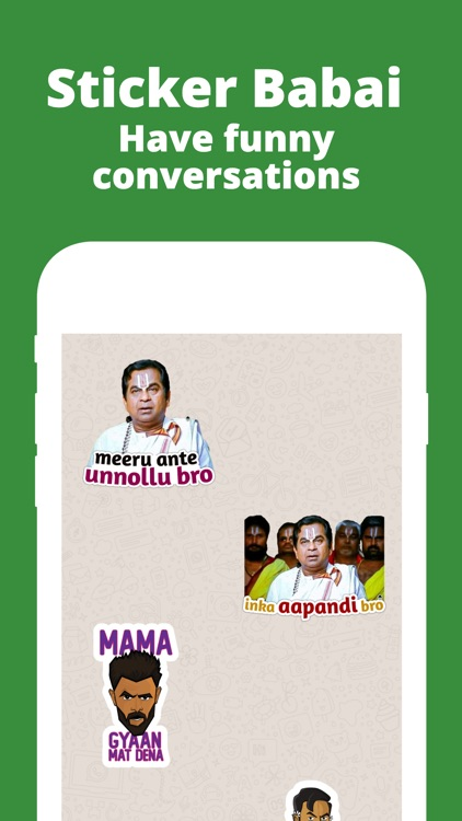 Sticker Babai: Telugu Stickers screenshot-0