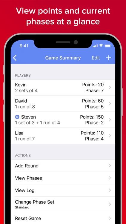 Phase 10 Score Keeper Pro
