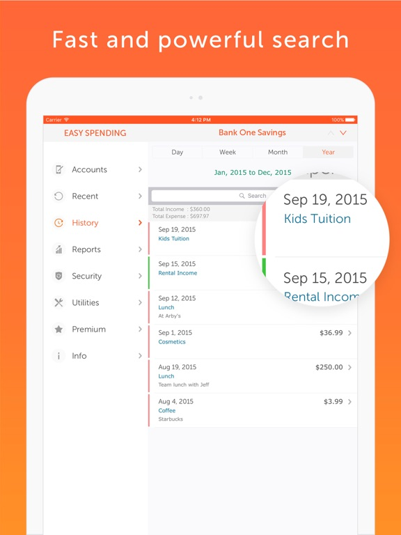 Screenshot #5 pour Easy Spending, Expense tracker