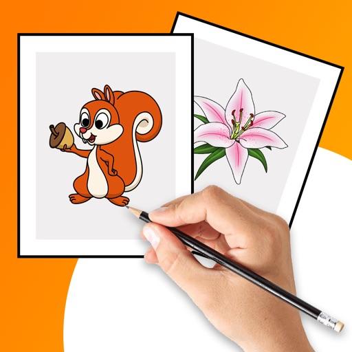 Draw it - flower,fruit,animal