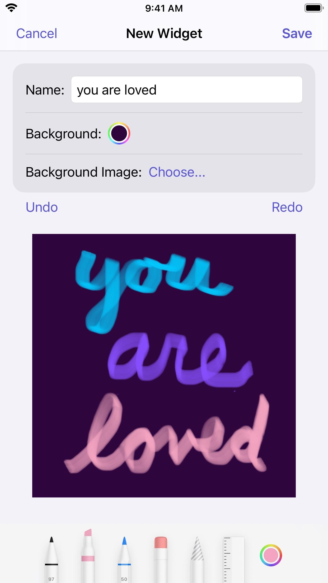 Screenshot do app Scribblet