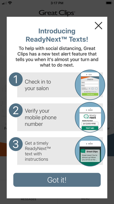 messages.download Great Clips Online Check-in software