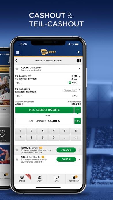 Screenshot for Bet3000 Sportwetten in Germany App Store