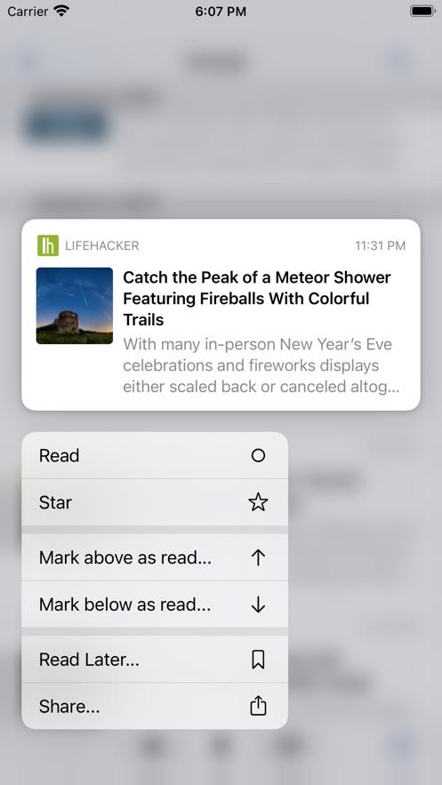 ReadKit - Read later and RSS App 截图