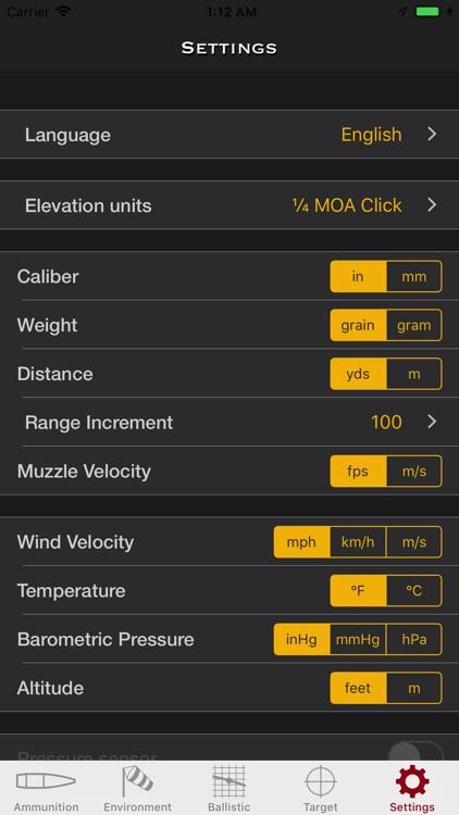 SBC - Ballistic Calculator app screenshot-6