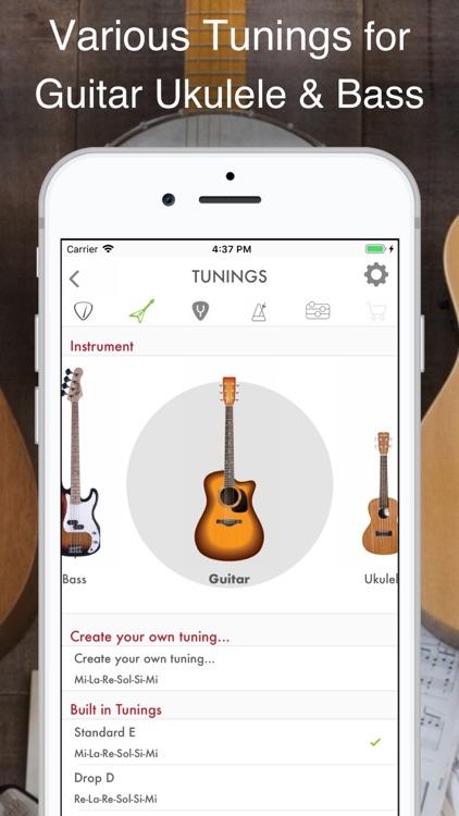 Guitar, Bass and Ukulele Tuner
