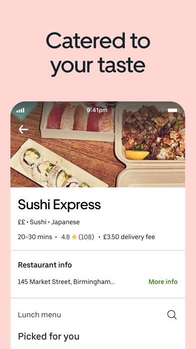Uber Eats: Food Delivery screenshot two