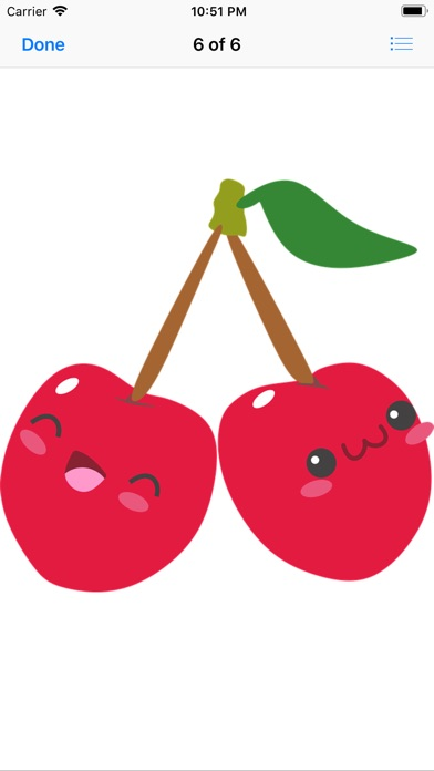 Happy Fruit Stickers app image