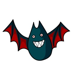 Funny and crazy BAT stickers