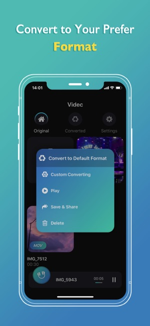 Videc - Any Video Converter Screenshot