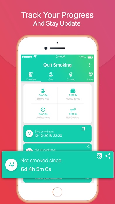 Quit Smoking Tracker screenshot two