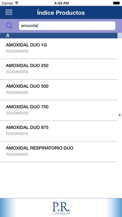 Screenshot for PR Vademécum Perú 2019 in Peru App Store