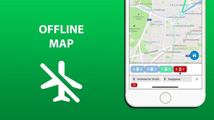 Public transport map Vienna screenshot-4