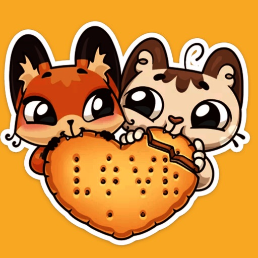 Fox and Cat sticker download