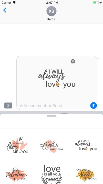 Cute Love Text Stickers Pack screenshot-8