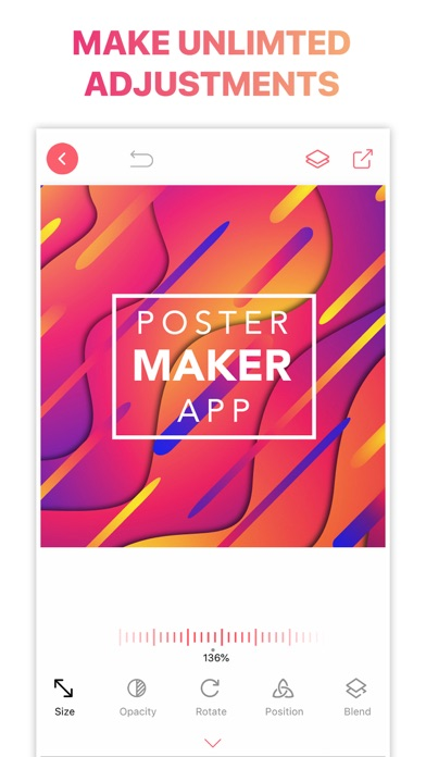 Poster Flyer Maker Icon Design Screenshot