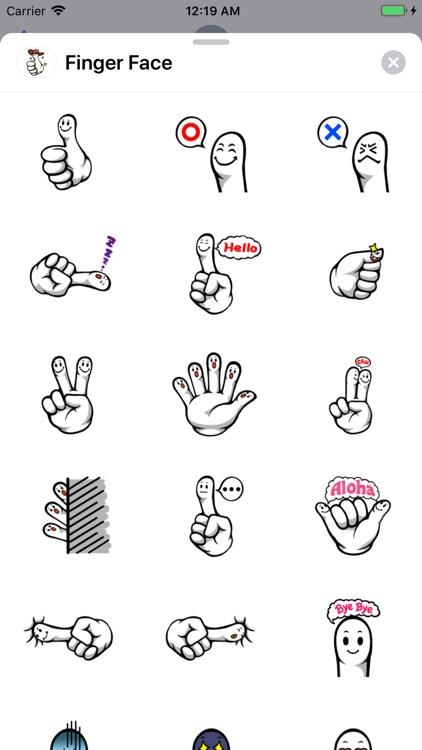 Fingerface ArtWork Stickers