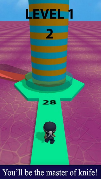 Challenge Ninja Throw screenshot 1