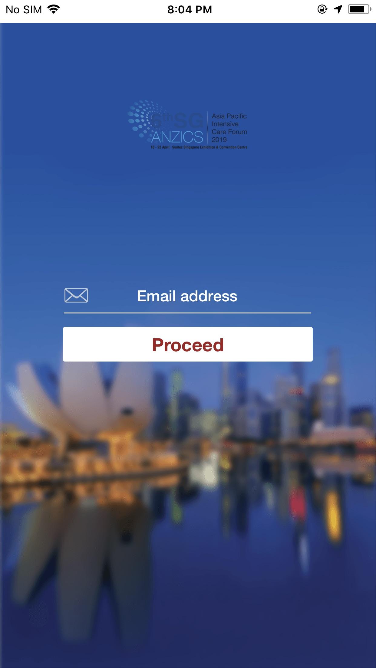 SG-ANZICS 2019 Screenshot