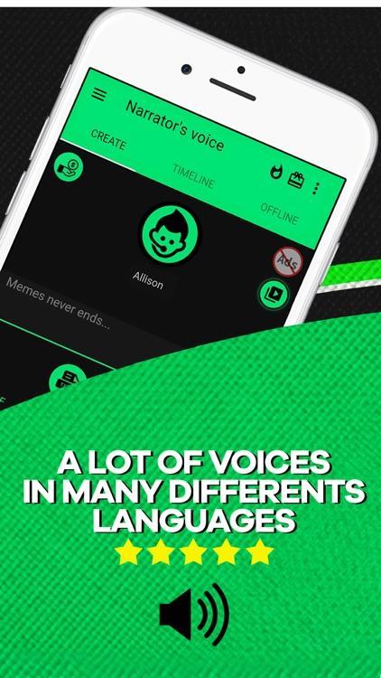Narrator's voice