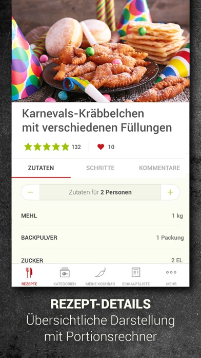 Screenshot for kochbar: Rezepte für jeden Tag in Greece App Store
